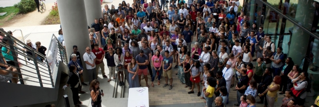 Diversity and inclusion rally at Stanford Medicine