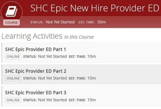 SHC Epic